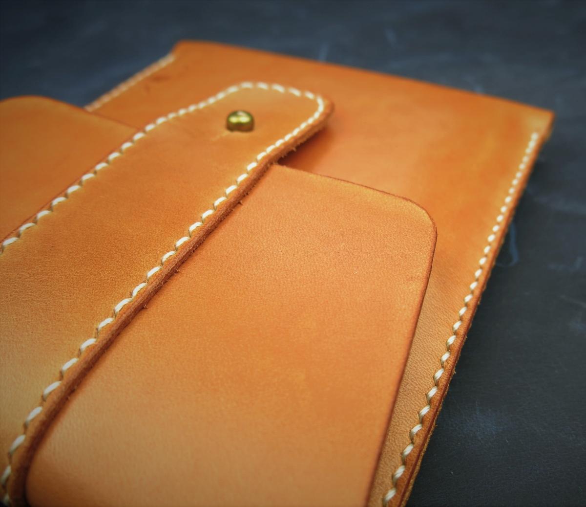 Kožené pouzdro A-K pro Amazon Kindle Paperwhite 3, světle hnědá